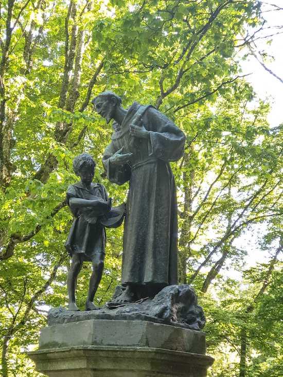 La Verna, Statue of St Francis of Assisi