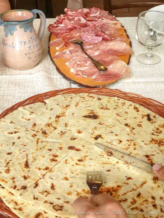 Piadina and Cold Cuts