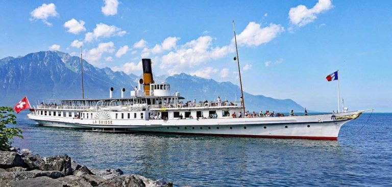 Steamboat on Lake Geneva