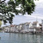 Switzerland, Zurich Old Town along the Limmat River