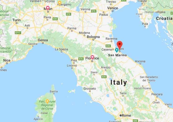 Rimini Map