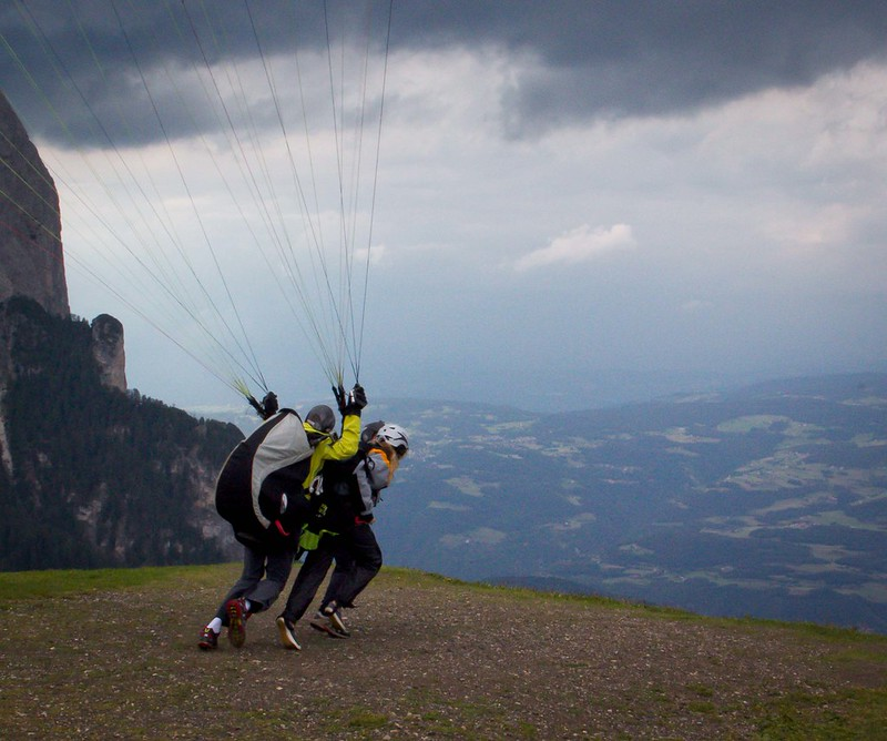 paragliding take-off