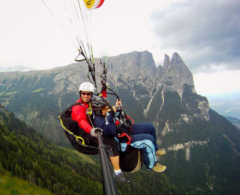 Tandem Paragliding in the Dolomites