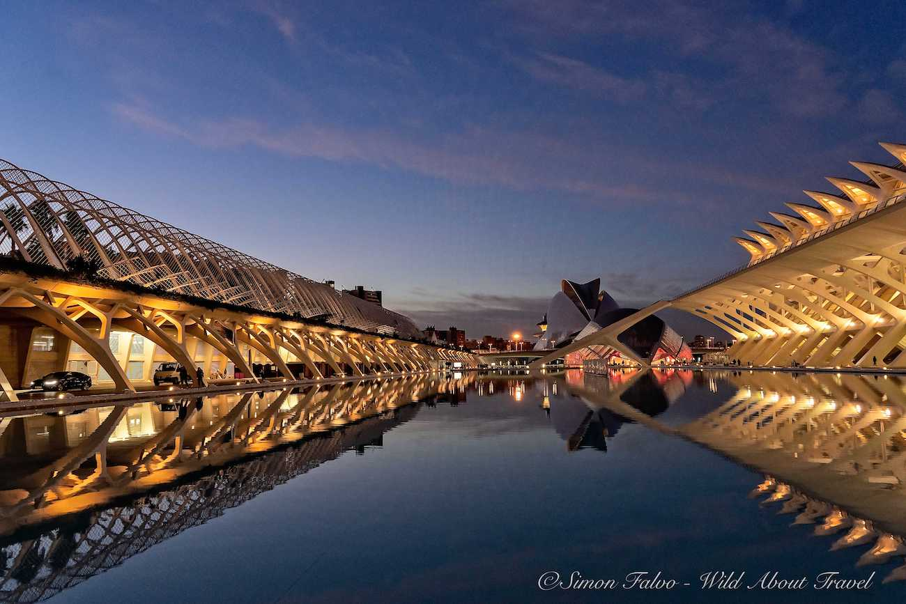 Valencia, City of Arts and Sciences at Sunset