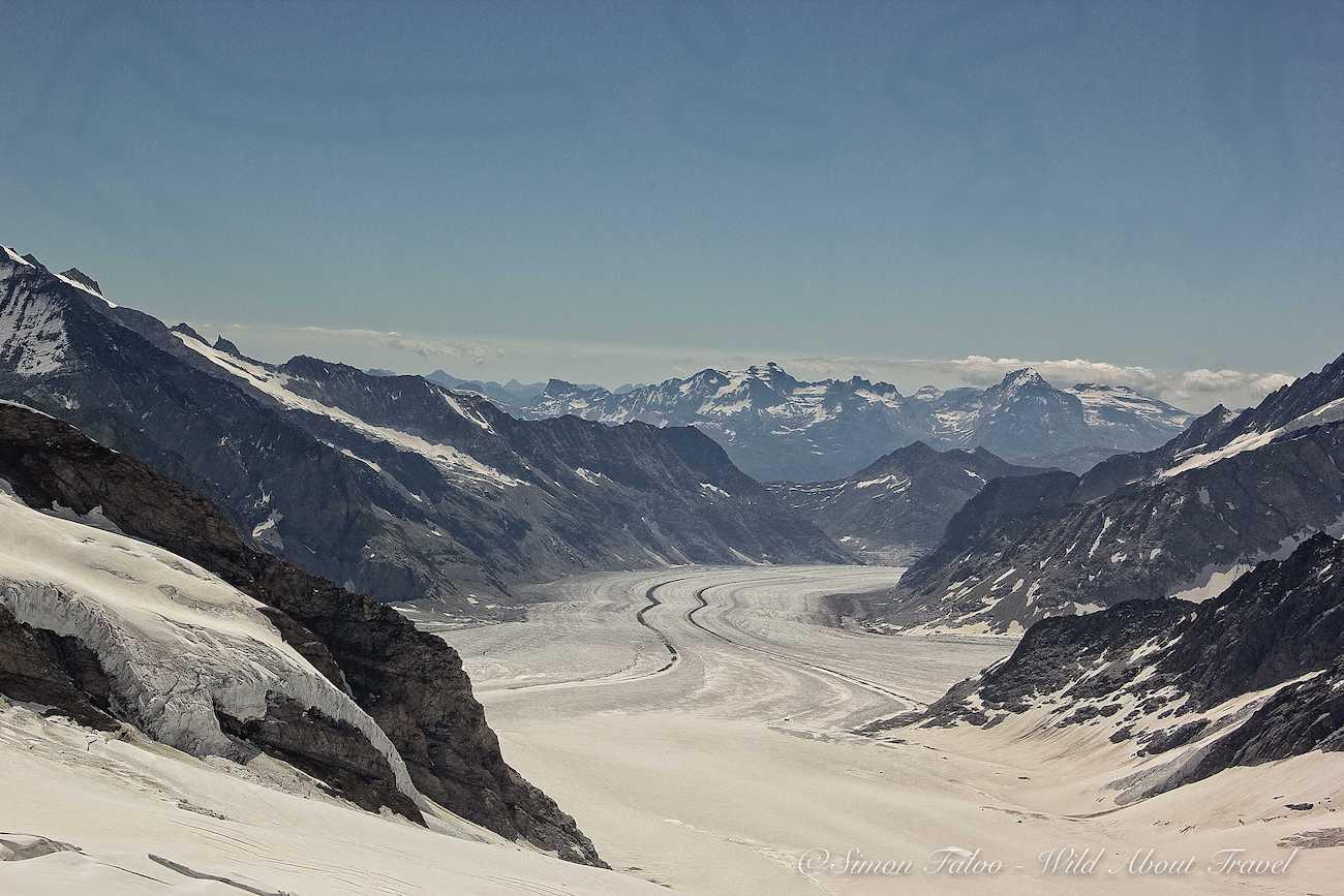 Jungfraujoch Top of Europe View of the Aletsch Glacier