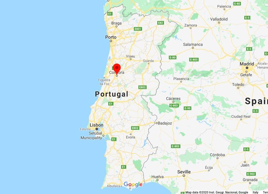 Portugal, Coimbra Map