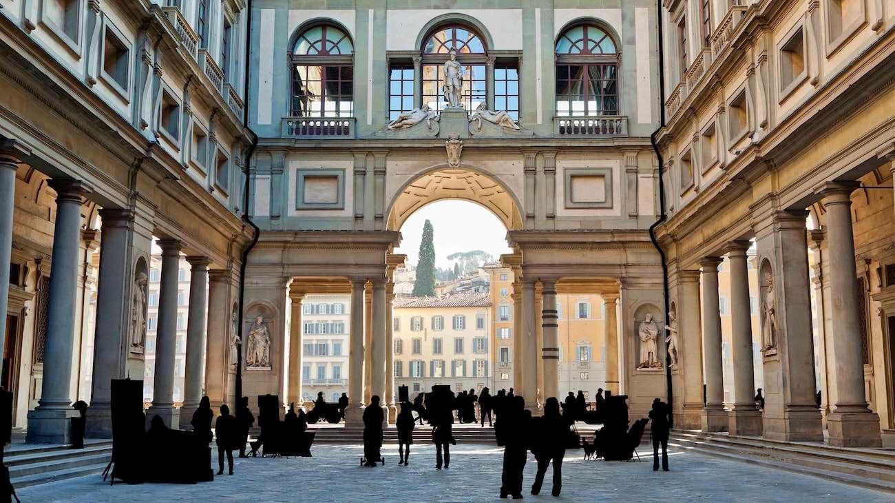 Florence Uffizi Courtyard